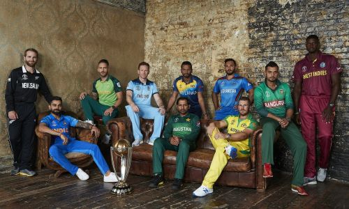 ICC Cricket World Cup,2019 - Team Captains with the Cup