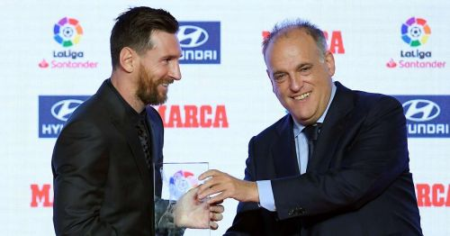 La Liga president hails Messi as the greatest player ever to grace the Spanish top-flight.