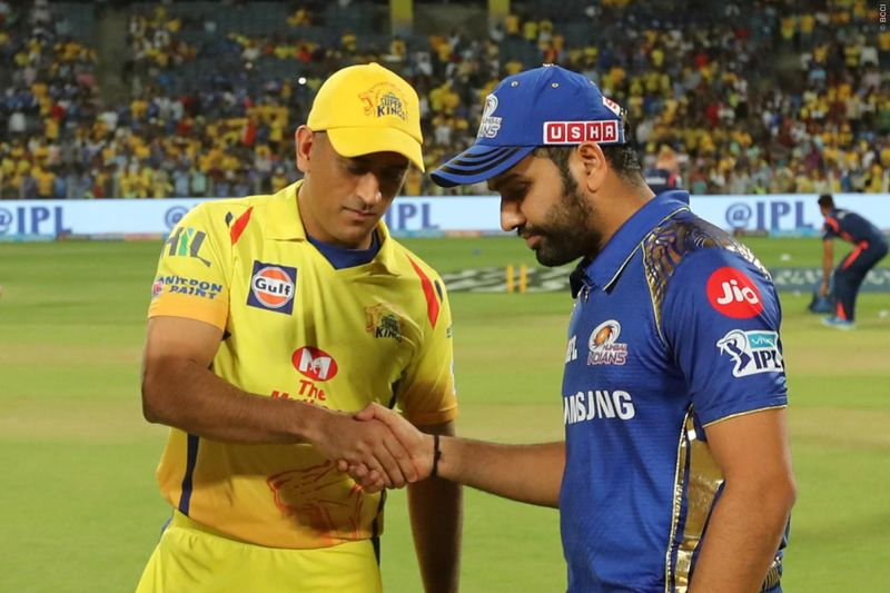 Dhoni and Rohit - The all-important final (Image courtesy: IPLT20/BCCI)