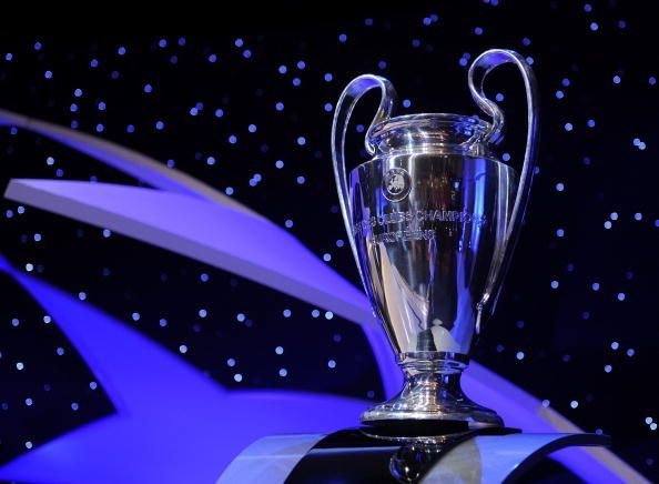 The coveted trophy of the UEFA Champions League