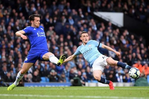 Phil Foden started his third Premier League game against Leicester City