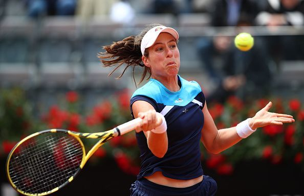 Konta in action on Day Seven on this year