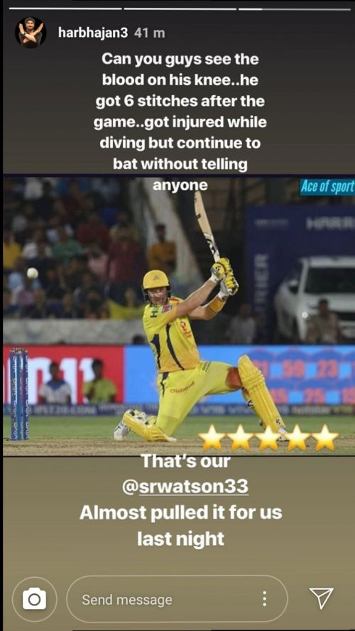 Harbhajan Singh's Instagram story (Source: Instagram)