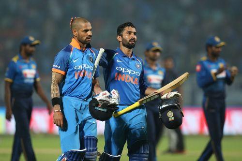 Dinesh karthik scored 2 centuries in ICC tournament's warm up games