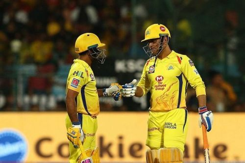 Ambati Rayudu and MS Dhoni (Image Courtesy: BCCI/IPLT20.COM)