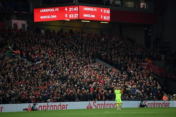 Lionel Messi endured a terrible night at Anfield