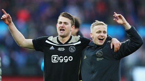 Matthijs de Ligt and Donny Van de Beek - Ajax