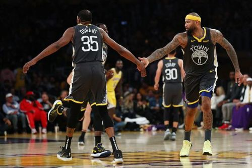 The Golden State Warriors are hoping for the returns of Kevin Durant and DeMarcus Cousins