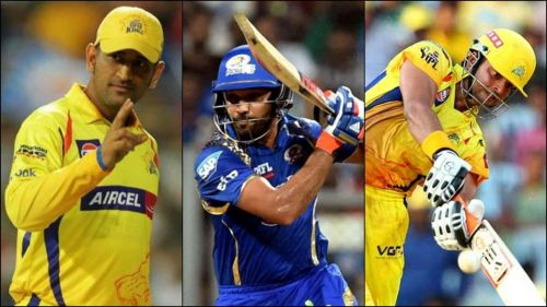 MS Dhoni And Rohit Sharma And Suresh Raina