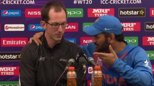 Dhoni replied him that that he would carry on till the 2019 World Cup