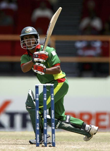 Mohammad Ashraful in action during his gutsy knock of 87