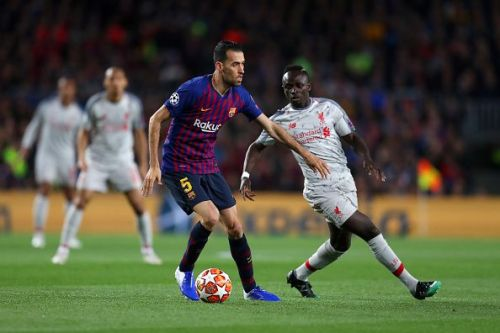 Sadio Mane (right) was not at his best on Wednesday
