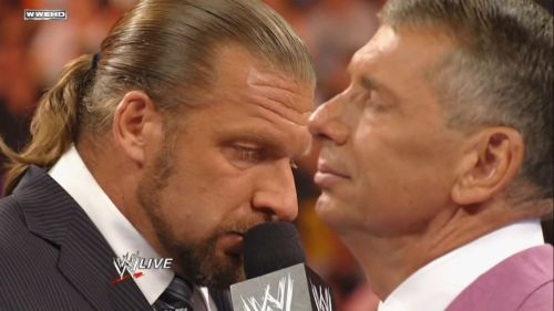 Triple H and Vince McMahon