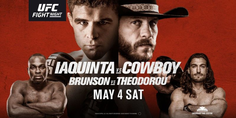 Watch UFC Fight Night 151 Iaquinta vs Cowboy