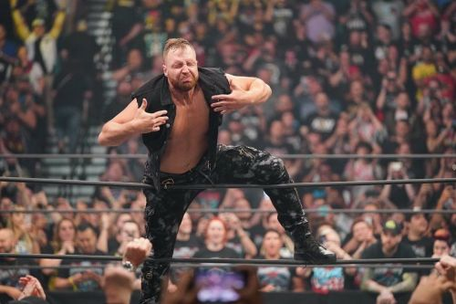 Jon Moxley taking it all in
