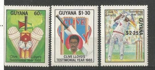 Stamps of Clive Lloyd issued by Guyana .