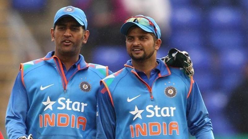 Dhoni & Suresh Raina