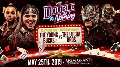 Image result for The Young Bucks (Matt Jackson and Nick Jackson) (c) vs. The Lucha Bros (Penta El Zero M and Fénix)