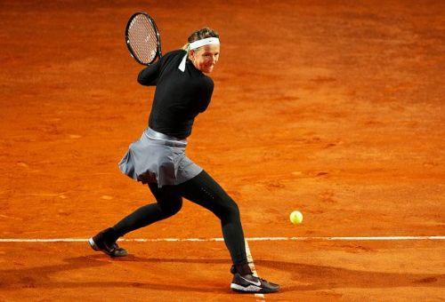 Victoria Azarenka dug deep to end Elina Svitolina's run at the International BNL d'Italia