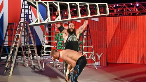 Sami Zayn replaced Braun Strowman in the Men's Money in the Bank Ladder match.