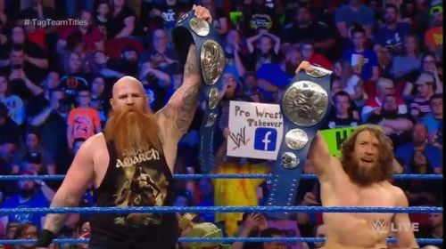 daniel bryan and erick rowan smackdown tag team champions