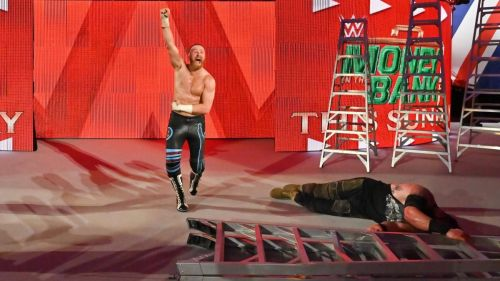 Zayn took Strowman's spot in the match