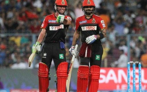Virat got together with AB de Villiers to stitch together a 229-run partnership