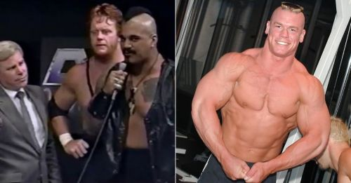 The Undertaker as Master of Pain and John Cena as The Prototype