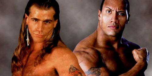 Shawn vs The Rock