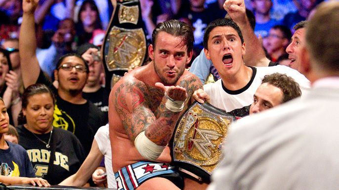 Punk won the WWE Championship in front of his hometown Crowd in 2011