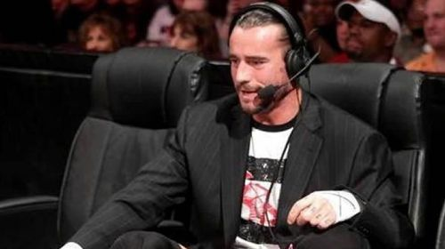 CM Punk as the WWE Commentator