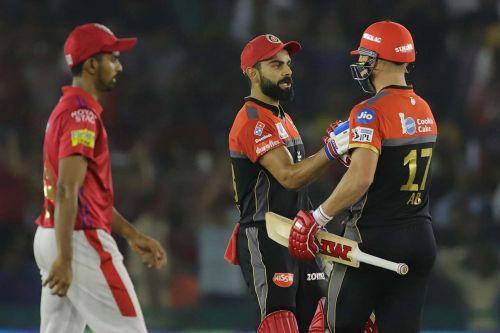 Once again, Virat Kohli and AB de Villiers were RCB's best batsmen this season. (Picture courtesy of IPLT20/BCCI)