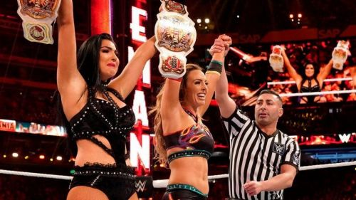 The IIconics are the current WWE Women's Tag-Team Champions