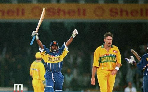 With his brilliant century, three wickets and two catches, Aravinda de Silva clinched the World Cup 1996 for Sri Lanka.