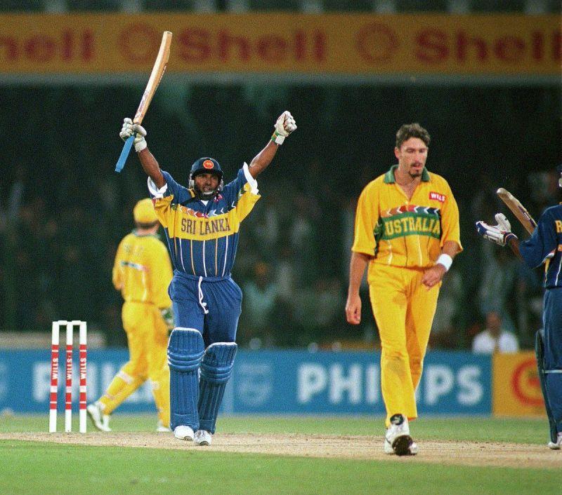 Aravinda de Silva remained unbeaten at 107 in the final to script a memorable win for Sri Lanka
