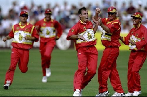 Zimbabwe after their win against India in the 1999 Cricket World Cup.