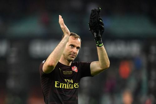 Peter Cech played his final game in a 4-1 loss to Chelsea in the UEFA Europa League Final