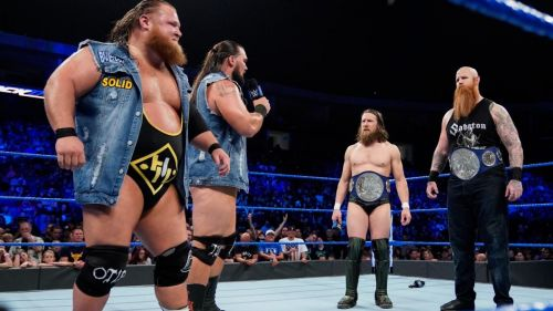 Heavy Machinery have challenged Bryan and Rowan for the SD Live Tag Team Titles