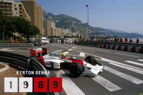 Senna won from pole for the first time in Monaco in 1989
