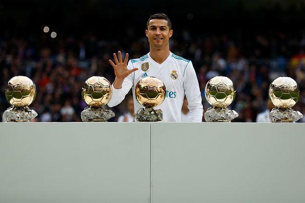 Ronaldo has won the Ballon d'or a record 5 times