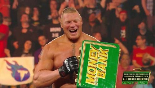 Brock Lesnar is now Mr. Money in the Bank.
