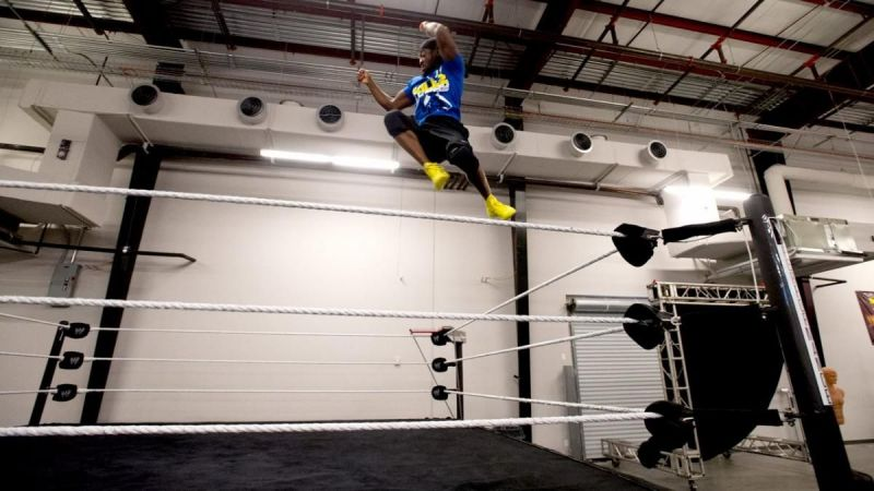 Kofi Kingston was very impressed by the special ring for highflyers when he tested the facilities in 2013.