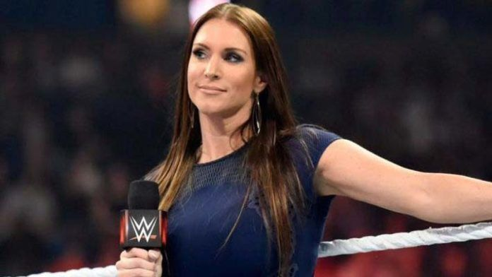 Stephanie McMahon inside the ring