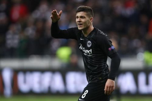 Luka Jovic has been linked with a move to Barcelona