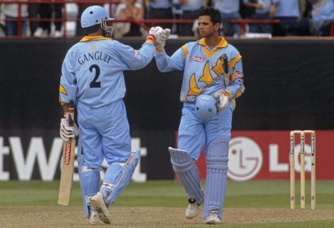 Dravid and Ganguly scored first 300-run partnership in WC history