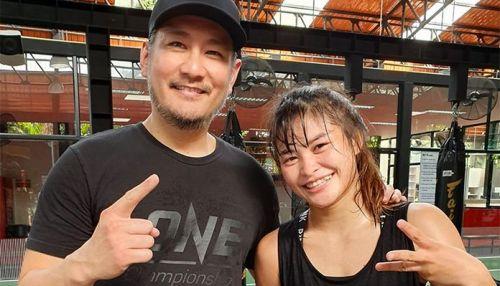 Martial arts sensation Stamp Fairtex is a rare concurrent two-sport World Champion