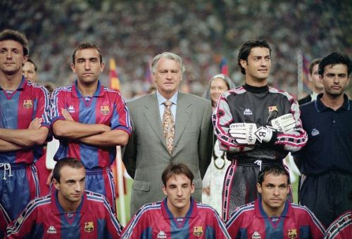 José Mourinho(far right) benefited from his early education at Barcelona