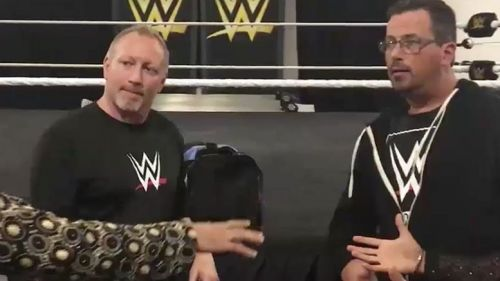 Jerry Lynn (left) at the WWE Performance Center