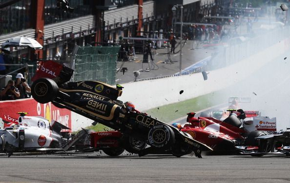 The 2012 Belgian GP saw a violent pile-up, but does it make our list?