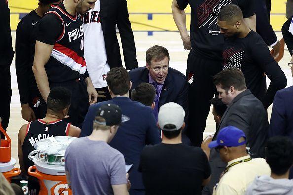 Portland head coach Terry Stotts